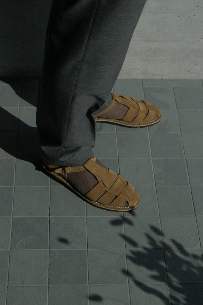 Artisanal sandals 10/01 <i>cognac</i>