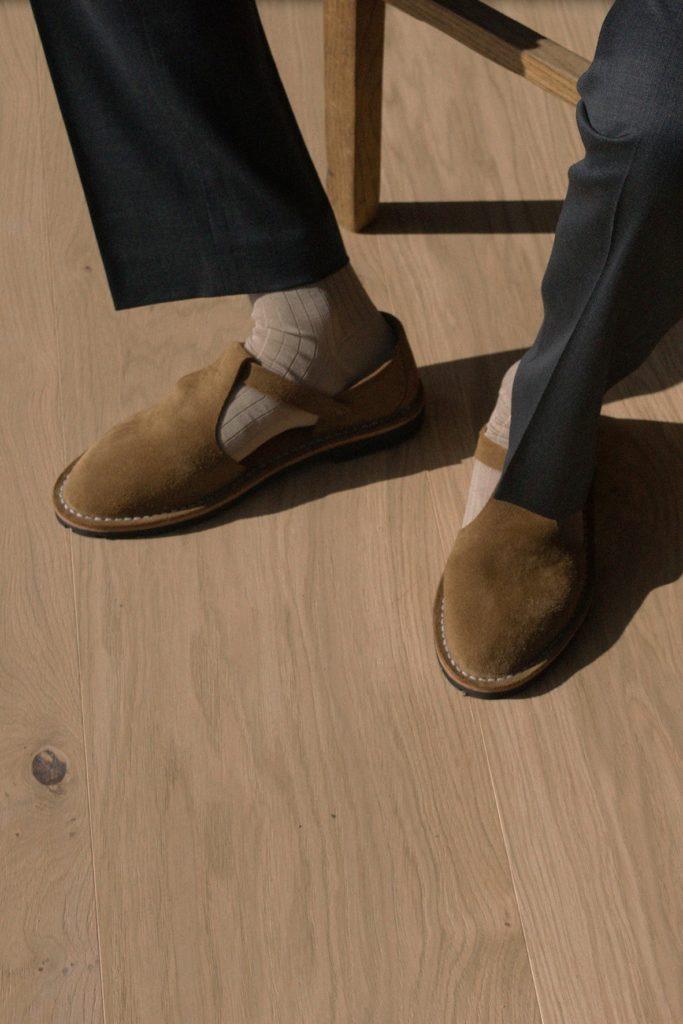 Artisanal sandals 10/12 <i>cognac</i>