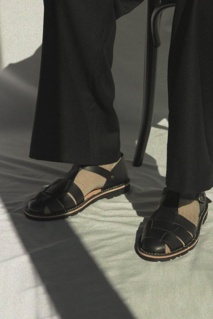 Artisanal sandals 10/01 <i>black</i>