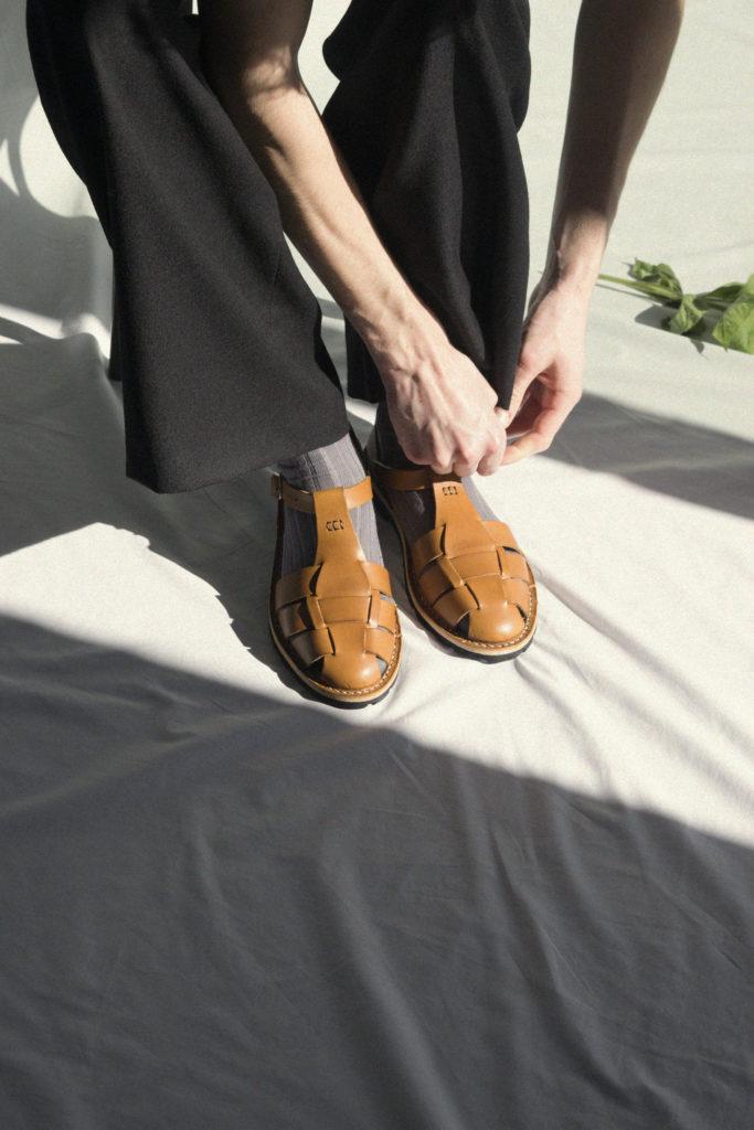 Artisanal sandals 10/01 <i>tobacco</i>